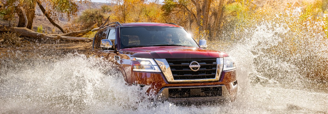 2021 Nissan Armada driving through water
