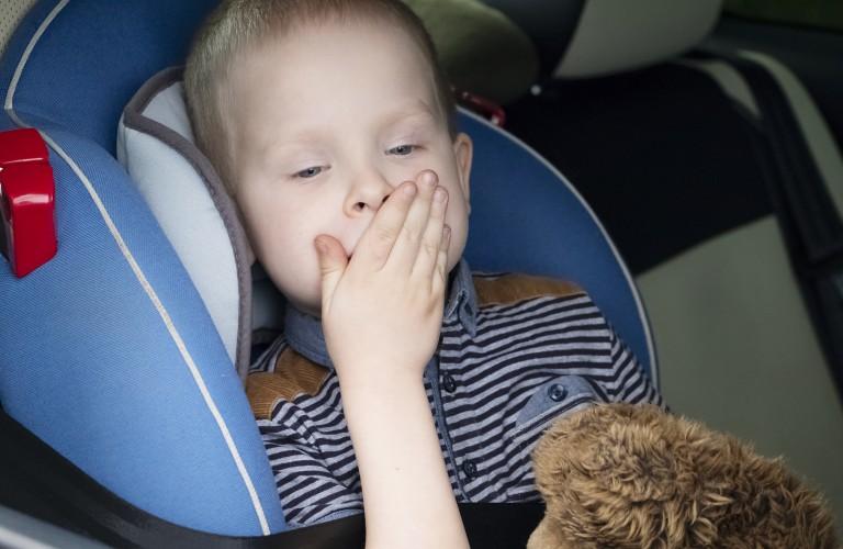 kid with car sickness