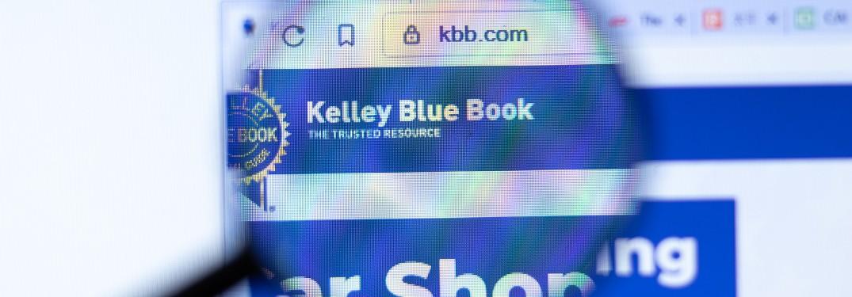Kelley Blue Book on webpage