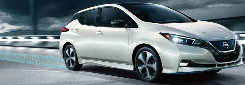 2021 Nissan LEAF parked side view
