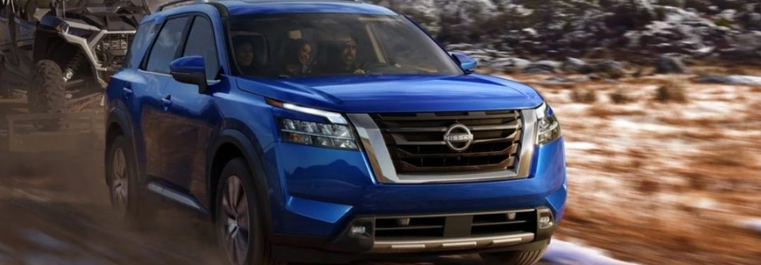 2022 Nissan Pathfinder driving front view