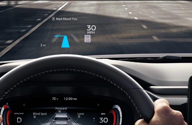 2022 Nissan Pathfinder interior dash and wheel