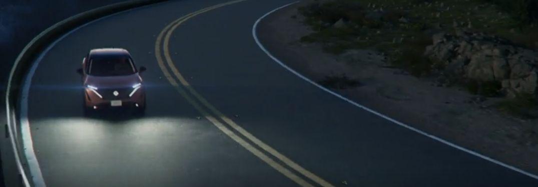 Nissan Ariya driving front view