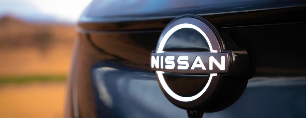 2022 Nissan ARIYA grille with logo