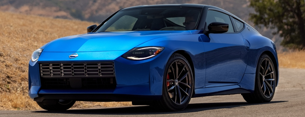 2023 Nissan Z blue front side view