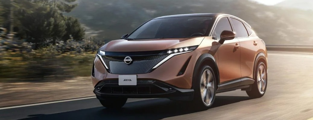 Nissan Ariya concept image copper front side view