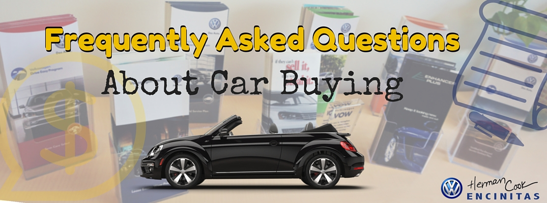 Frequently Asked Questions About Car Buying