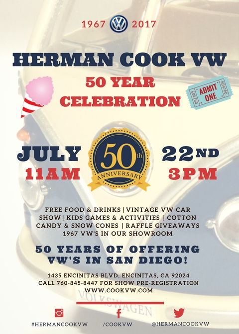 50th Anniversary Party at Herman Cook Volkswagen