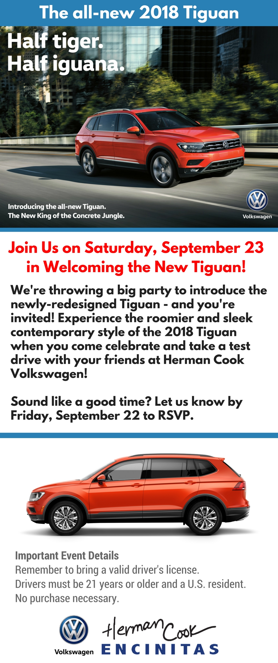 2018 Tiguan Launch Party September 23, 2017