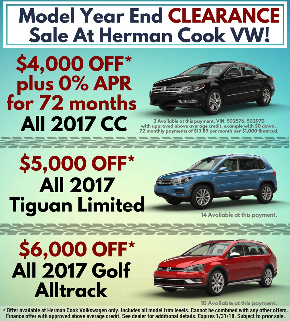 Model Year End Clearance Sale at HCVW
