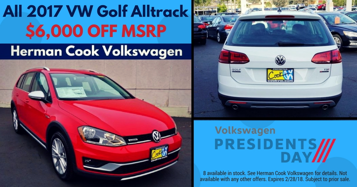 Presidents Day $6,000 Off 2017 Golf Alltrack