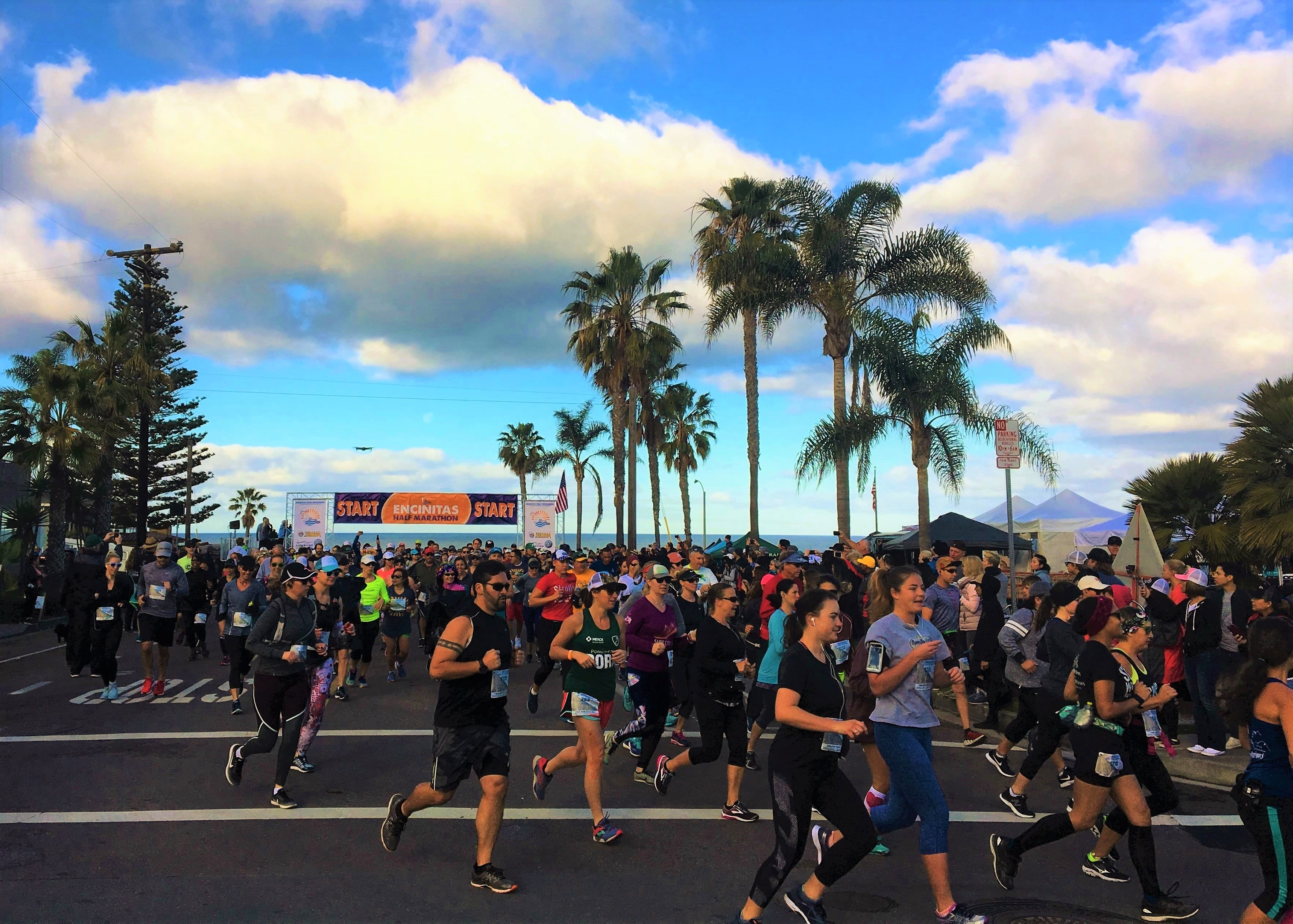 Encinitas Half Marathon Runners