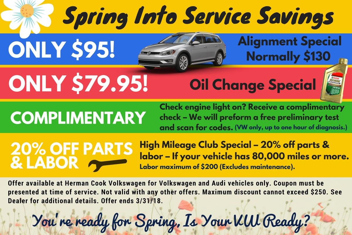 Spring Into Service at Herman Cook Volkswagen
