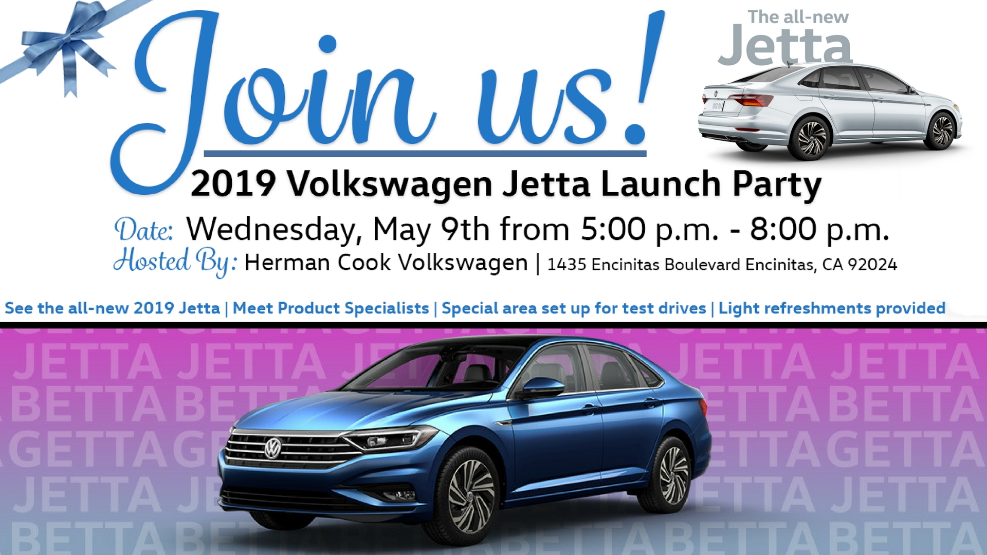 2019 Jetta Launch Party Invite