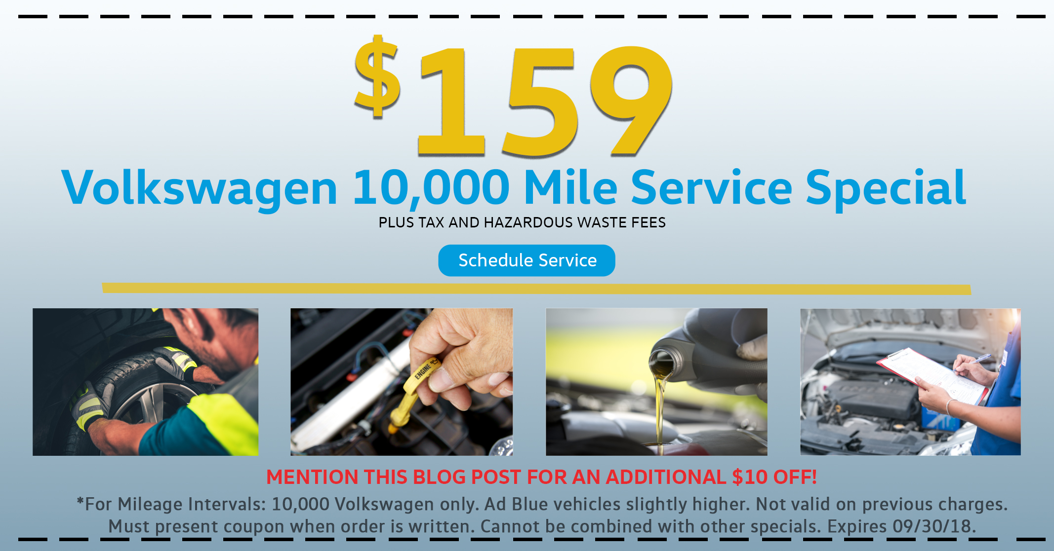 Volkswagen 10,000 Mile Service
