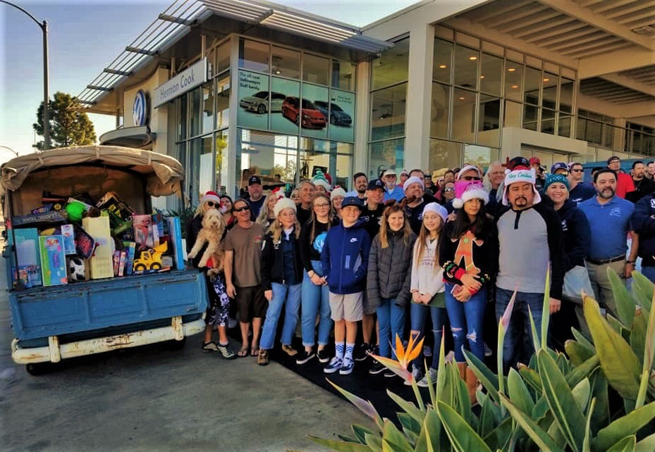 San Diego Vintage VW Christmas Cruise Group
