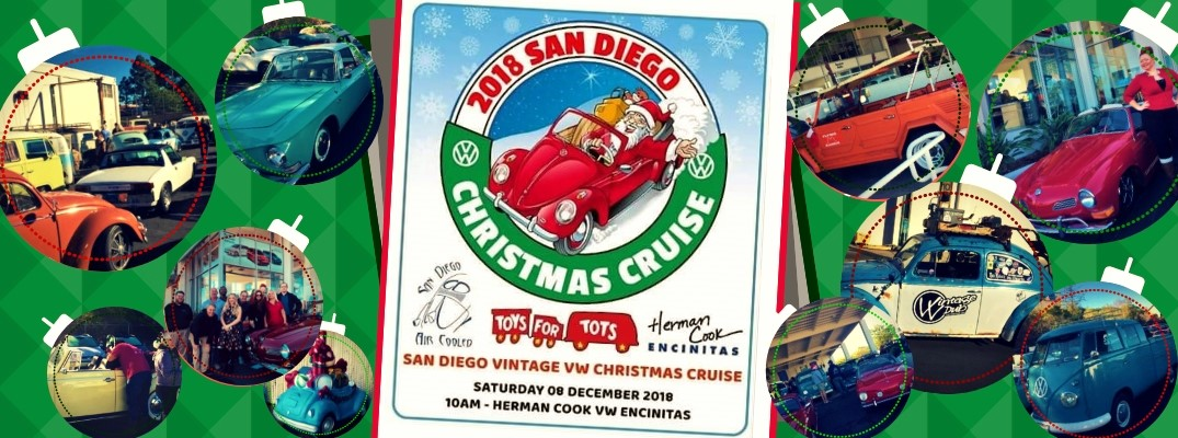 2018 San Diego Air Cooled Vintage VW Christmas Cruise