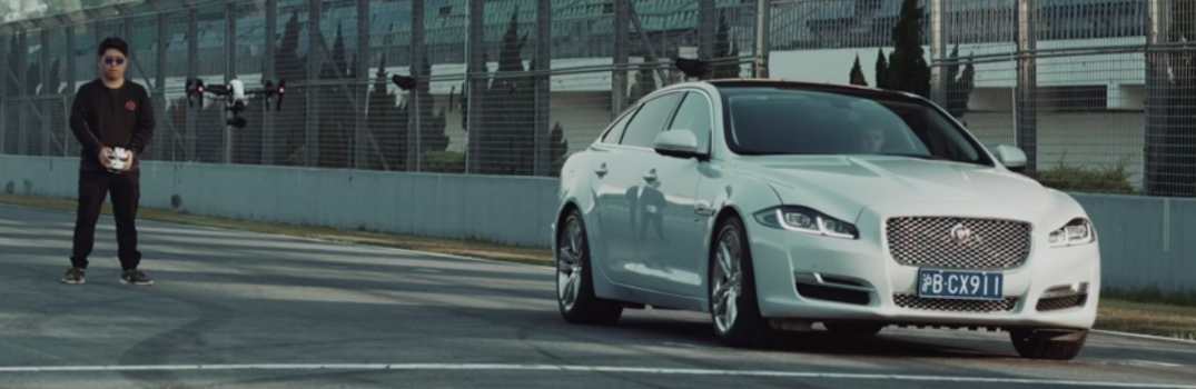 2016 Jaguar XJ and DJI Drone Cat and Mouse Chase Video