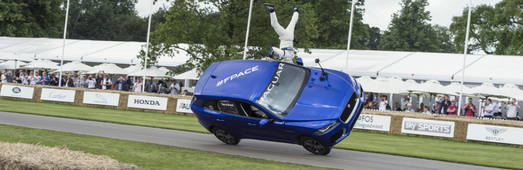 2017 Jaguar F-PACE Two Wheels Goodwood Festival of Speed