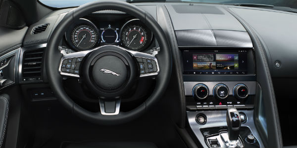 2019 Jaguar F-TYPE Steering Wheel, Dashboard and Touchscreen Display