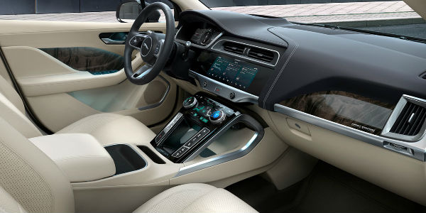 2019 Jaguar I-PACE Steering Wheel, Dashboard, Center Console and Front Seats