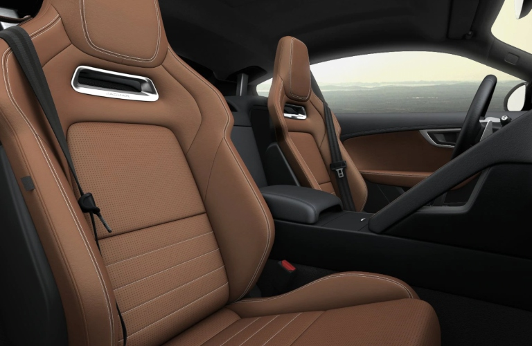 2020 Jaguar F-Type Siena Tan Windsor Leather Facings with Cirrus Stitch