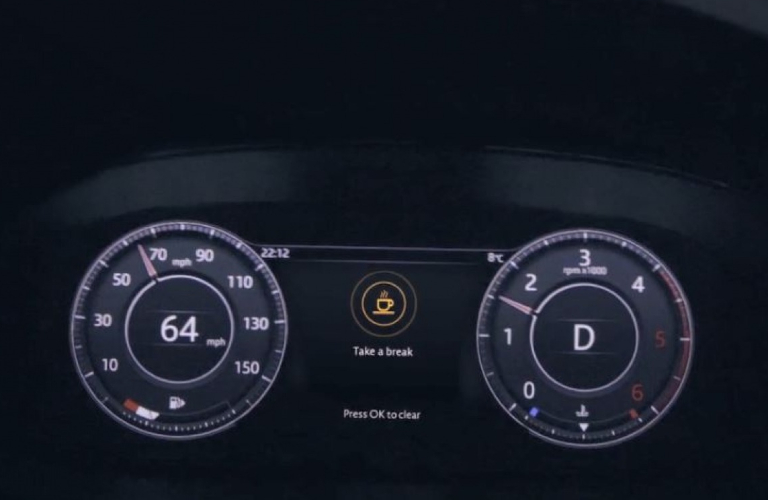 2020 Jaguar E-PACE Driver Condition Warning Screen