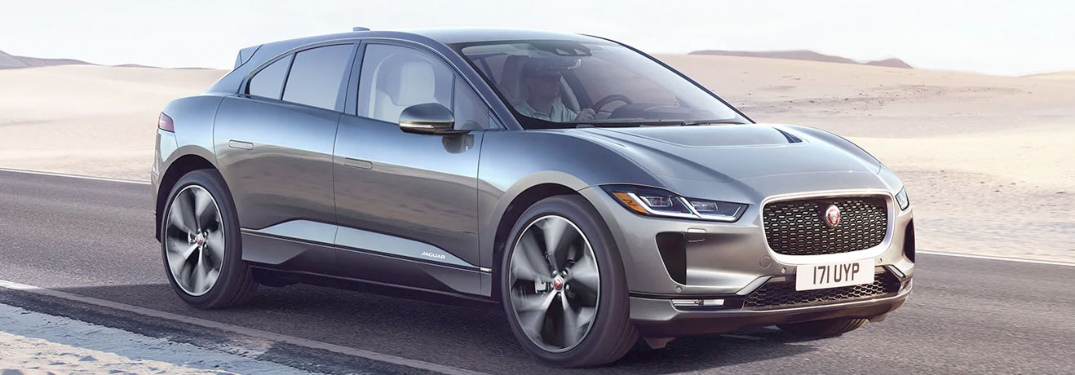 2020 Jaguar I-PACE going down the road