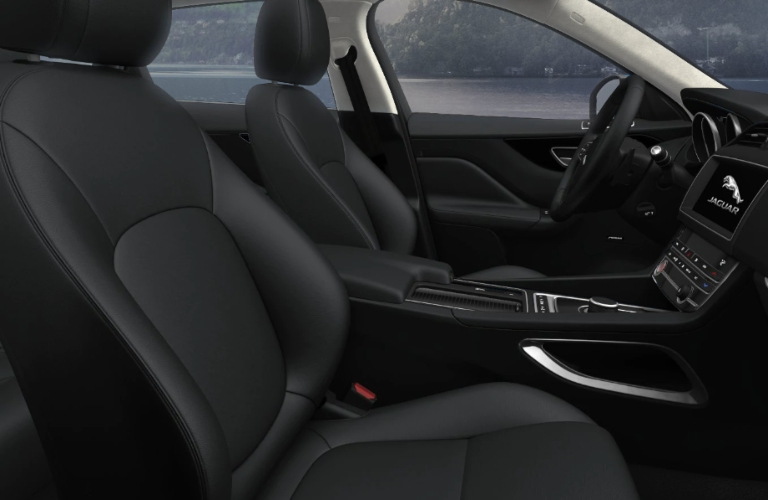 2020 Jaguar F-PACE Ebony Luxtec Interior