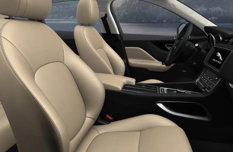 2020 Jaguar F-PACE Latte Luxtec Interior