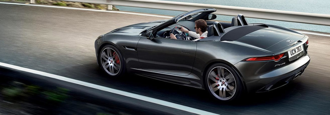 2020 Jaguar F-TYPE Convertible on the road