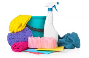 Various car cleaning supplies
