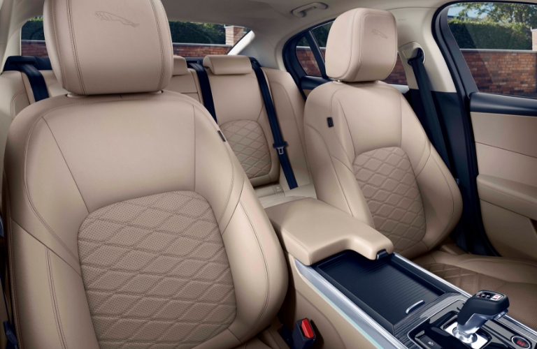 2020 Jaguar XE front and back seats