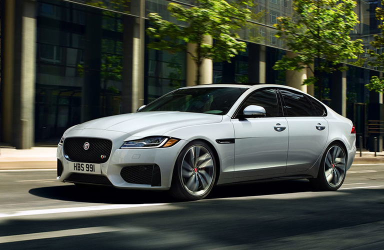2020 Jaguar XF Sedan going down the road