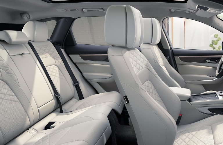 Front and back seats of the 2021 Jaguar F-PACE