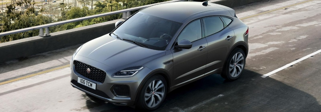 2021 Jaguar E-PACE going down the road