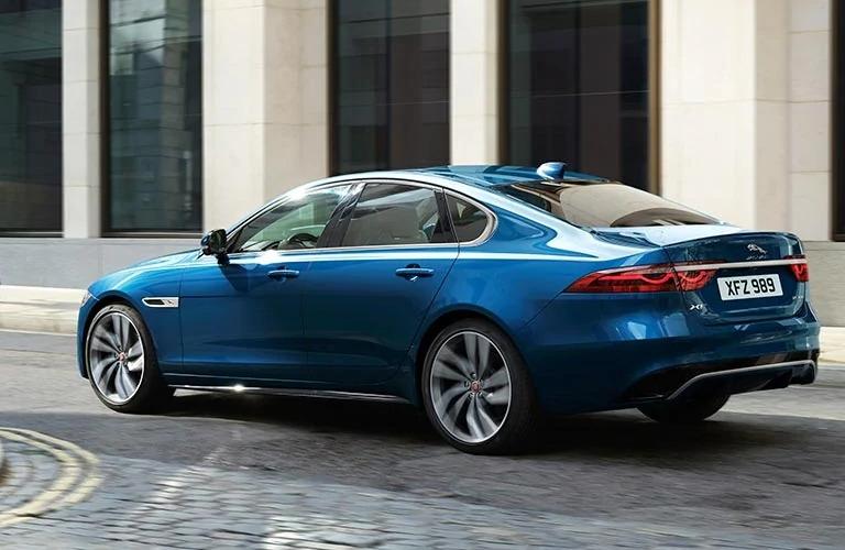 2021 Jaguar XF driving away