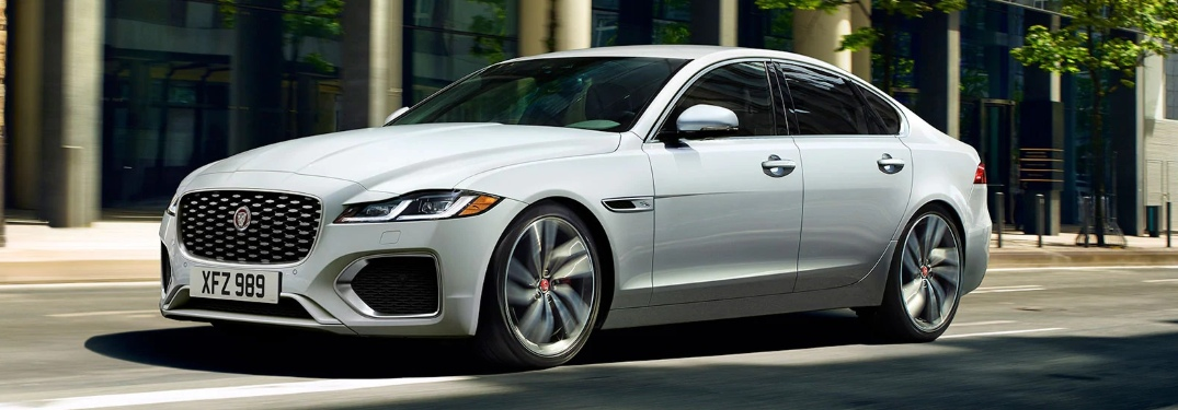 2021 Jaguar XF parked on the side of the street