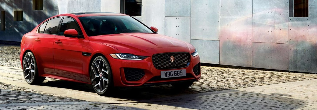 2020 Jaguar XE parked on a brick road