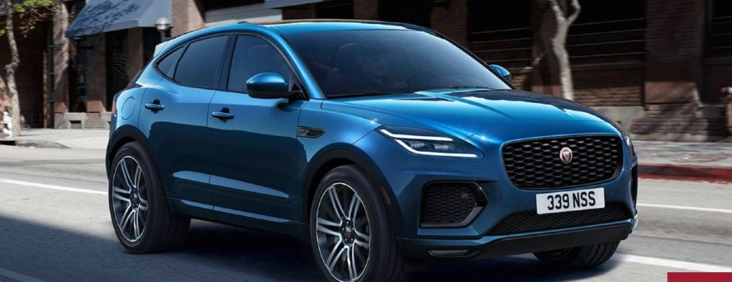 2021 Jaguar E-PACE going down the street