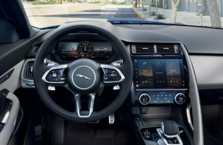 Behind the wheel in the 2021 Jaguar E-PACE