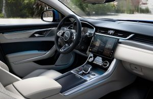Dashboard in the 2021 Jaguar XF