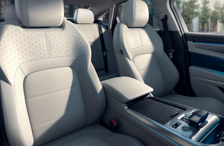 Front seats in the 2021 Jaguar XF