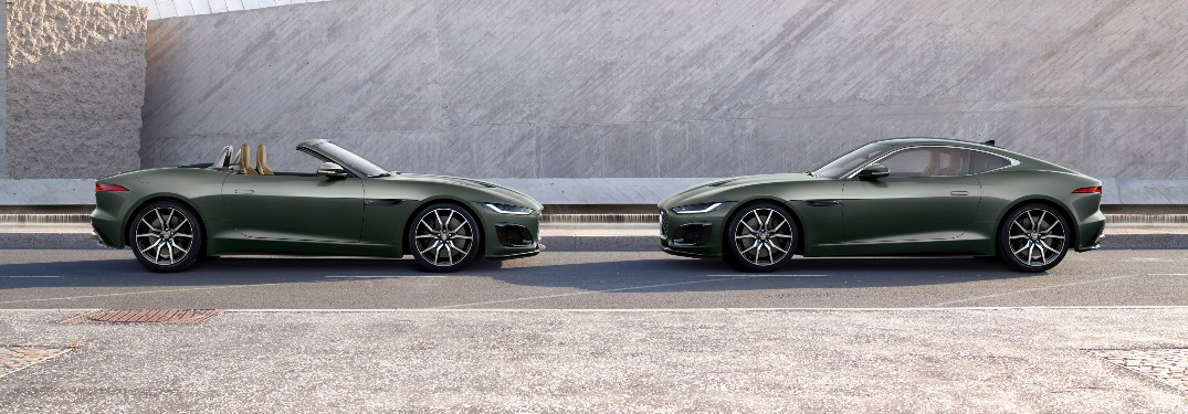 Jaguar F-TYPE Heritage 60 Edition convertible and coupe