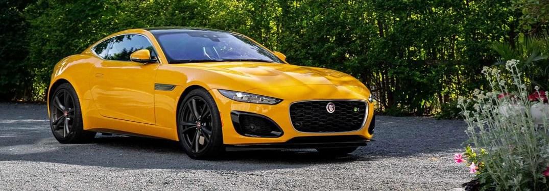 2021 Jaguar F-TYPE parked on gravel