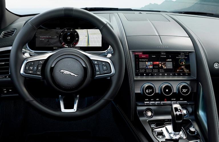 Steering wheel in the 2021 Jaguar F-TYPE