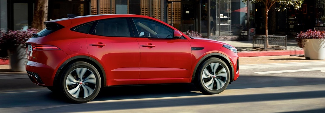 2021 Jaguar E-PACE on the side of the road