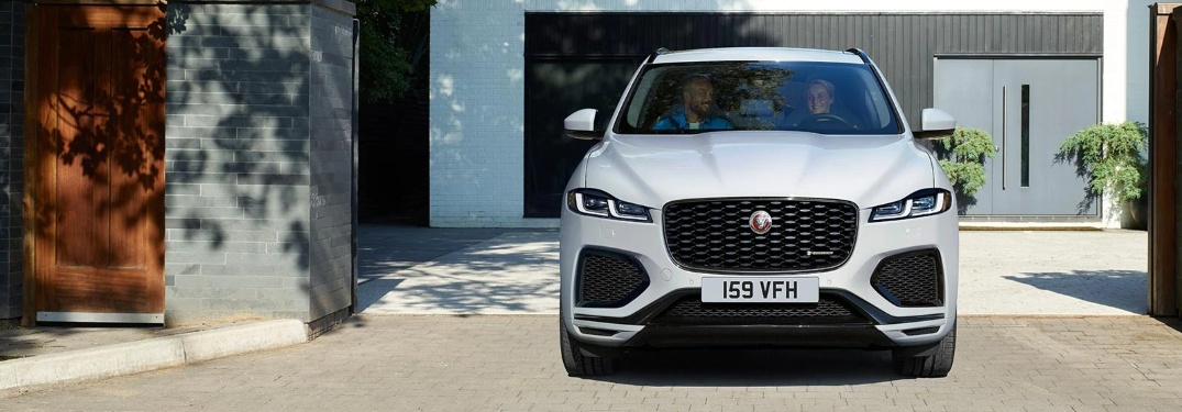 2021 Jaguar F-PACE parked in the driveway