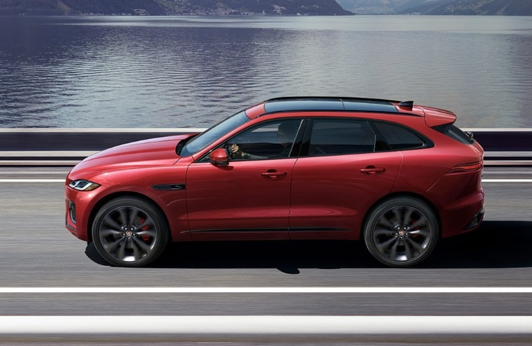 2021 Jaguar F-PACE profile view