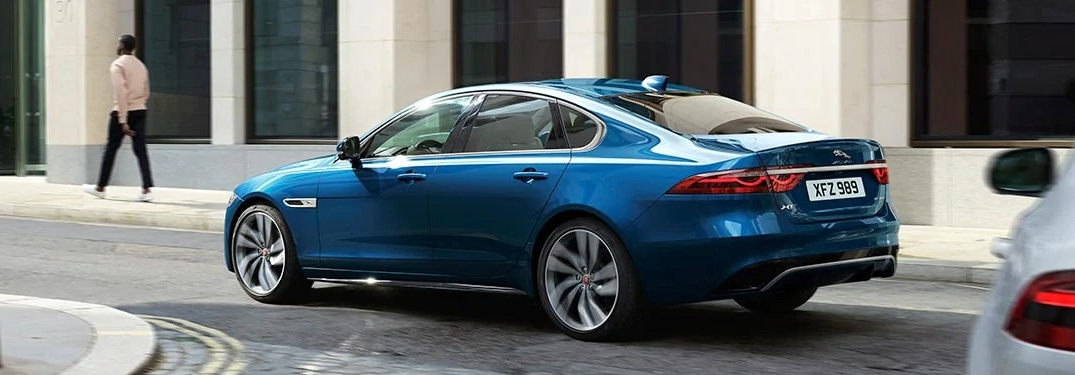 2021 Jaguar XF driving away